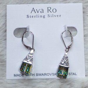 Ava Ro Sterling Silver Swarovski Crystal Earrings